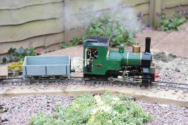 my own steam loco on my birthday card